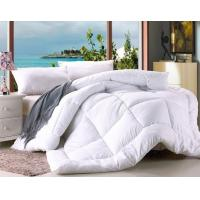 Buy cheap Polyester Microfiber Filling Comforter White Hotel Duvet / Quilt with Binding from wholesalers