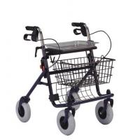 Buy cheap Euro style metal, steel frame, powder painting Rollator with 4 wheel walker with brakes from wholesalers