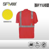 Buy cheap Reflective Safety Clothing 100% Polyester Fabric High Visibility Shirts with Reflective Tape product