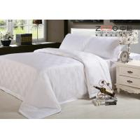 Buy cheap 250TC Hotel Bed Linen 100 Cotton Satin Square Design Bed Cover Hotel from wholesalers