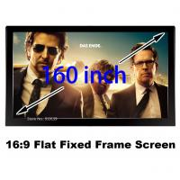Buy cheap 160 Fixed Frame Screen With Black Velvet And Aluminium 16:9 Format Matt White 3D Screens from wholesalers
