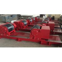 Buy cheap Red Bolt Adjustable Pipe Stands , Heavy Duty Welding Roller Beds With PU Wheel from wholesalers
