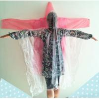 Buy cheap disposable rain poncho, rain coat, PE from wholesalers
