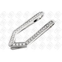 Buy cheap Customized Money Clip Men with CNC Clear Crystals Shiny Polished 316L Stainless Steel from wholesalers