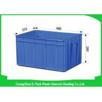 Buy cheap Big Capacity Plastic Stackable Containers Warehousing Transportation Blue from wholesalers
