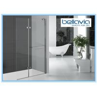Buy cheap Bi Folding Pivot Hinge Shower Door Glass , Hinged Shower Door Semi Frameless from wholesalers