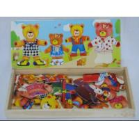 Buy cheap Custom Best Cheap Children Cartoon Four Cute Bears Dress Wooden Jigsaw Puzzle Toys from wholesalers