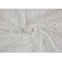 Buy cheap Textile Milk Fiber Water Soluble Guipure Lace Fabric By The Yard Stretch Soft Feel from wholesalers