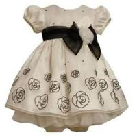 Buy cheap Lovely design 100% Polyester Beautiful taffeta ball gown infant flower girl dress from wholesalers