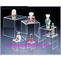 Buy cheap Acrylic countertop cosmetic display stand, plexiglass nail polish display rack from wholesalers