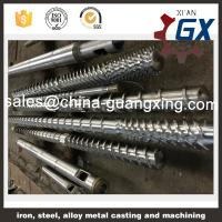 Buy cheap bimetallic plastic extruder screw and barrel for pvc extruder and pipe extruder from wholesalers