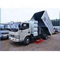 Buy cheap Dongfeng 4x2 Road Sweeper Truck 4cbm 6 Wheels With Brush Humanized Operation from wholesalers