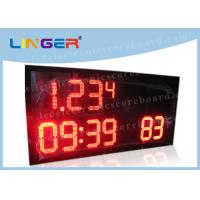 Buy cheap Semi - Outdoor LED Digital Clock With Time / Temperature Function 15kgs from wholesalers