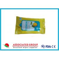 Buy cheap Promotional Packaging Antibacterial Wet Wipes Lemon Extract Spunlace Nonwoven Material from wholesalers
