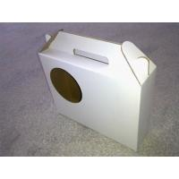 China White Corrugated Paperboard Box, Fruit Packaging Boxes With Handle on sale