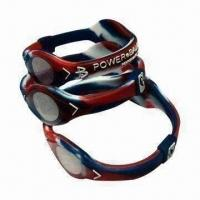 Buy cheap Silicone Bracelets with Negative-ion Power, Health Jewelry, OEM Orders Welcomed product