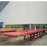 Buy cheap 3 FUWA Axle CIMC Container Flatbed Semi Trailer for 20ft 40ft from wholesalers