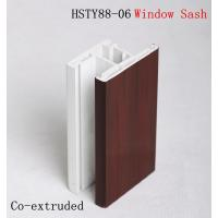 Buy cheap Wood texture 60 casement PVC Extrusion Profiles Co - extruded for Home , office from wholesalers