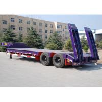 Buy cheap CIMC 80 T lowboy trailer transport engine low bed trailer for heavy duty semi trailers transportation from wholesalers