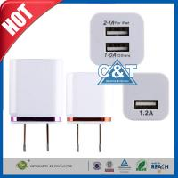 Buy cheap Dual Port 3.1A Usb Ac Power Adapter 2-Tone Home Iphone 6 Wall Charger from wholesalers