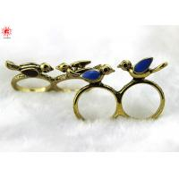 Buy cheap Fashionable Stylish Metal Couple Finger Rings Gold With Birds product
