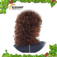 Buy cheap Fashionable Light Brown Loose Curl Indian Human Hair Full Lace Wig from wholesalers