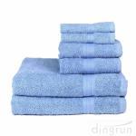 Buy cheap 100% Cotton 6 Piece Absorbent Towel Set Bath Towel Hand Towel Wash Towel from wholesalers