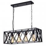 Buy cheap Antique Black Finish  Vintage Pendant Lamps Metal Vintage Drop Lights 4 Lights from wholesalers