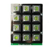 Buy cheap China backlight  industrial metal keypad for door system, 3x4 12 keys keyboard for Taiwan from wholesalers