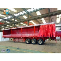 Buy cheap Steel Structure PVC Fabric Tarpaulin 60t Curtain Side Trailers from wholesalers