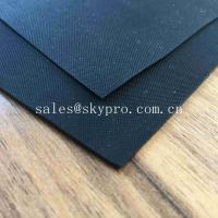 Buy cheap Anti - Aging Black Smooth Rubberized Cloth Waterproof Rubber Fabric for Boat Raincoat from wholesalers