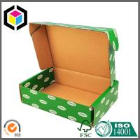Buy cheap Green Color CMYK Design Artwork Printed Paper Corrugated Cardboard Packaging Box from wholesalers