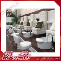 Buy cheap luxury white leather king chair manicure and pedicure furniture spa chair leather cover product