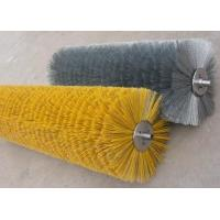 Industrial Polypropylene Wire Wafer Brushes , Snow Cleaning Road Sweeper Brushes