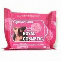 Buy cheap Cosmetic Wipes, Made of Spunlace, Measures18 x 20cm from wholesalers
