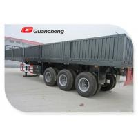 Buy cheap 60 ton open mini Cargo Semi Trailer with side panel Dual Line braking system from wholesalers