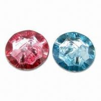 Buy cheap Good-quality Shiny Acrylic Rhinestone Buttons, Different Colors are Available product