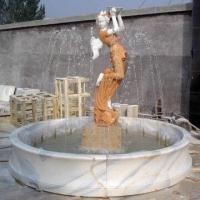 Buy cheap White Marble Sculpture, Measuring 150cm Height, with Natural and Classic Designs from wholesalers