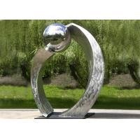 Silver Polished Contemporary Garden Sculpture Stainless Steel For City Decoration