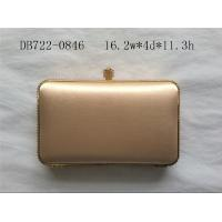 Buy cheap Diamond Closure Black Satin Clutch Bag , Wedding Party Gold Box Clutch Bag from wholesalers