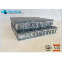Buy cheap Fuding Black Basalt Type Honeycomb Stone Panels With Edge Open Flamed Surface from wholesalers