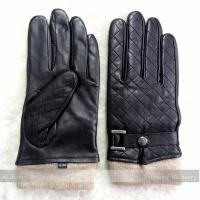 Buy cheap Dobby Style Mens Black Leather Gloves , Mens Leather Dress Gloves With Belt from wholesalers