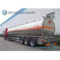 Buy cheap Mechanical / Pneumatic Loading Tri-Axle FUWA Oil Tank Trailer 50000L from wholesalers