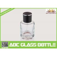 Buy cheap High Quality Custom Glass Perfume Bottle 50ml With Black Cap Clear Color product