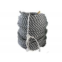 Buy cheap High Strength Dia 12mm x 220 mtrs Length 4 Strand Black and White Color Polypropylene / PP Rope With Good Price from wholesalers