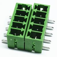 Buy cheap 2EDGR/15EDRC pluggable terminal blocks connector 3.81mm/5.00mm/5.08mm pitch male type rignht angel through hole from wholesalers