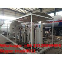 customized 10tons skid lpg gas filling station with 4 digital scales,10tons skid lpg gas tank with digital scales