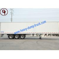 Buy cheap OEM 3 Axle 40FT Van Container Semi Trailer Truck with 3mm Diamond / Flat Platform from wholesalers