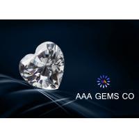 Heart Cut 9mm White Moissanite , Loose Moissanite Stones Ri 2.65 - 2.69
