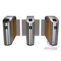 Buy cheap zk access reader Half height or Full High Turnstile Retractable Glass Barrier , speed gate for indoor theater from wholesalers